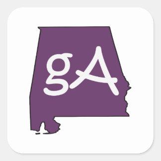 Aussenseiter-Alabama-Aufkleber Quadratischer Aufkleber