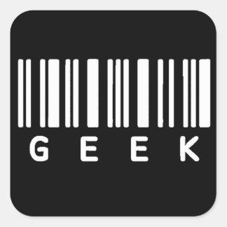 Aussenseiter-Barcode Quadrat-Aufkleber