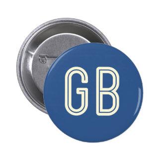 Aussenseiter-Frühstücks-blauer runder Knopf Runder Button 5,7 Cm