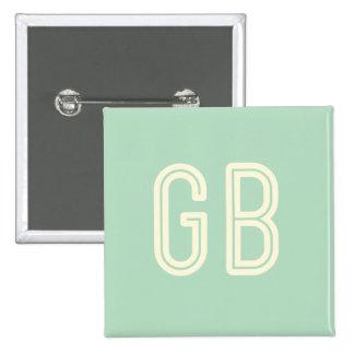 Aussenseiter-Frühstücks-Grün-Quadrat-Knopf Quadratischer Button 5,1 Cm