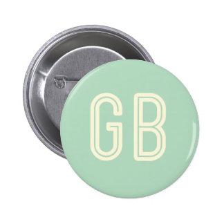 Aussenseiter-Frühstücks-Grün-runder Knopf Runder Button 5,1 Cm