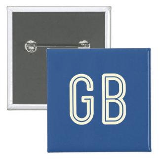 Aussenseiter-Frühstücks-Quadrat-Knopf - Blau Quadratischer Button 5,1 Cm