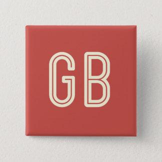 Aussenseiter-Frühstücks-Quadrat-roter Knopf Quadratischer Button 5,1 Cm