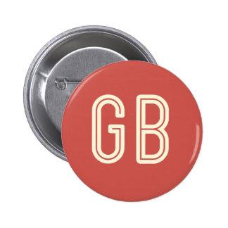 Aussenseiter-Frühstücks-roter runder Knopf Runder Button 5,1 Cm