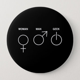 Aussenseiter-Geschlecht Runder Button 10,2 Cm