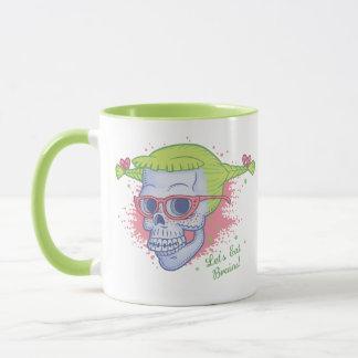 Aussenseiter-Mädchen-Zombie-Schädel Tasse