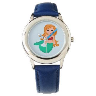 Aussenseiter-Ozean-Meerjungfrau des Pixel-8Bit Uhr