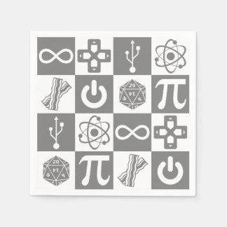 Aussenseiter-Symbole Servietten