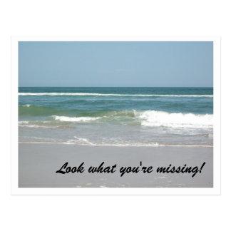 Äußere Bank-Postkarten-Ozean-Szene Postkarte