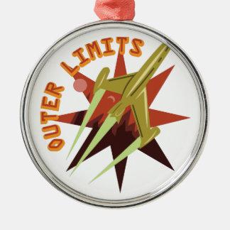 Äußere Grenzen Rocket Silbernes Ornament