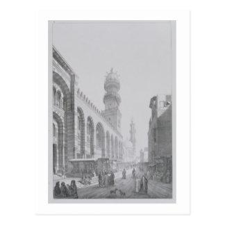 Äußeres der Moschee von Qalaoun, überzieht 20 von Postkarte