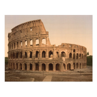 Äußeres des Colosseum, Rom, Italien Postkarte