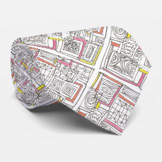 Außerhalb des Kasten-Abstrakten geometrischen Personalisierte Krawatte