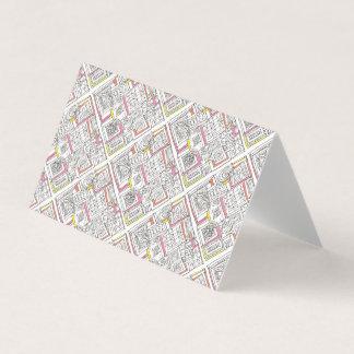 Außerhalb des Kasten-Abstrakten geometrischen Visitenkarten