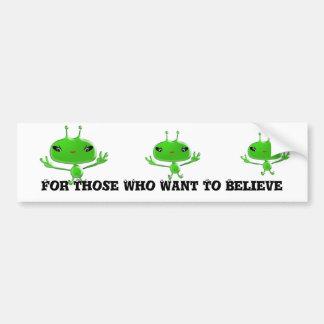 Außerirdische-Autoaufkleber für die, die zu Believ Autoaufkleber