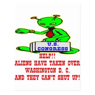 Außerirdische hat Washington DC übernommen Postkarte