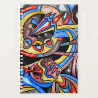 Außerirdische Jazz-Hand gemalte abstrakte Kunst Planer