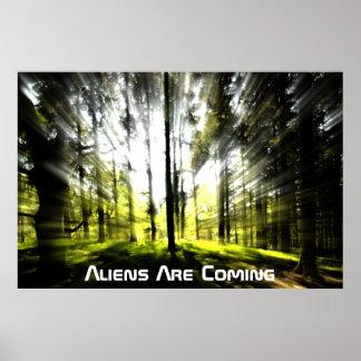 Außerirdische kommt poster