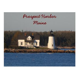 Aussicht-Hafen-Leuchtturm Maine Postkarte