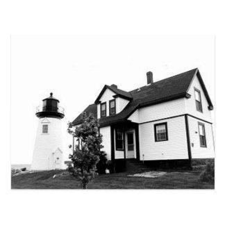 Aussicht-Hafen-Punkt-Leuchtturm Postkarte