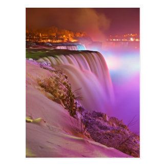 Aussicht-Punkt-Nachtansicht von Niagara- Postkarte
