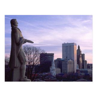 Aussicht-Terrasse-Park bei Providence, RI Postkarte