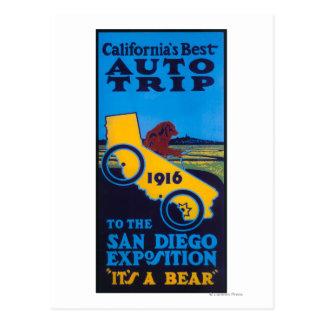 Ausstellungs-förderndes Plakat Postkarte