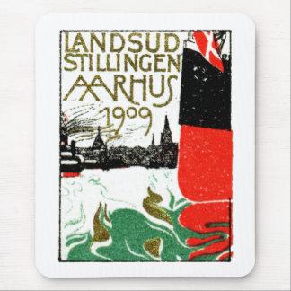 Ausstellungs-Plakat 1909 Aarhus Dänemark Mousepads