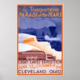 Ausstellungs-Vintages Plakat USA Ohio wieder