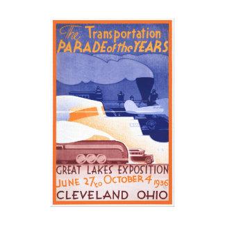Ausstellungs-Vintages Plakat USA Ohio wieder Leinwanddruck