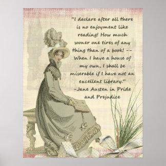 Austen Buch-Liebhaber Poster