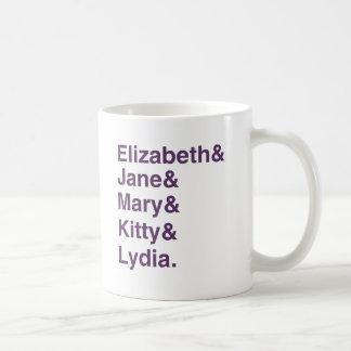 Austen Stolz-u. Vorurteil-Symboltabelle-Tasse Kaffeetasse