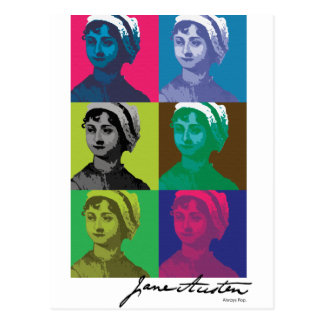 AustenPop -- Jane Austen-Art Postkarte