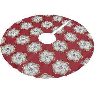 Austern-Blumen-Baum-Rock - Entwurf C Polyester Weihnachtsbaumdecke