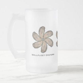 Austern-Blumen-GlasTasse - Entwurf D Mattglas Bierglas