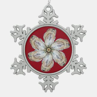 Austern-Blumen-Schneeflocke-Verzierung - entwerfen Schneeflocken Zinn-Ornament