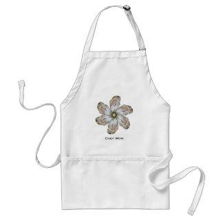 Austern-Blumen-Schürze - entwerfen Sie A - Schürze