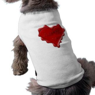 Austin. Rotes Herzwachs-Siegel mit Namensaustin Top