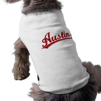 Austin-Skriptlogo im Rot Shirt