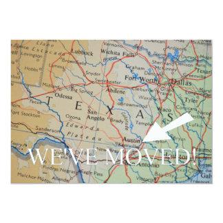 Austin, Texas haben wir neue Adressen-Mitteilung 12,7 X 17,8 Cm Einladungskarte