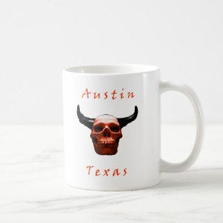 Austin Texas Halloween Longhorn-Schädel Kaffeetasse
