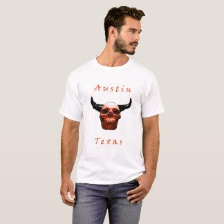 Austin Texas Halloween Longhorn-Schädel T - Shirt
