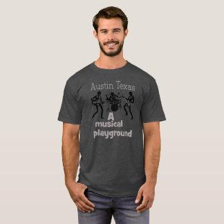 Austin Texas - Musik-Spielplatz-T-Shirt T-Shirt