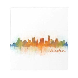 Austin Texas skyline Watercolor v3 Notizblock