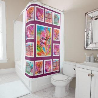 Austin-Wurfs-zurück Entwurf 1 Duschvorhang