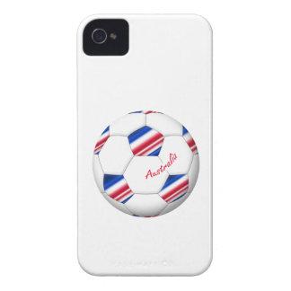 """Australian Soccer ball. Ball von """"AUSTRALIEN """" iPhone 4 Case-Mate Hülle"""