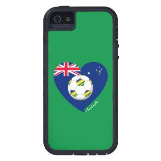 """Australian Soccer Heart. Fußball von """"AUSTRALIEN """" iPhone 5 Etuis"""