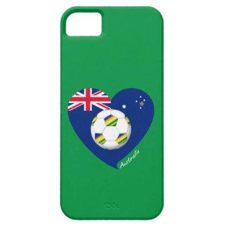 """Australian Soccer Heart. Fußball von """"AUSTRALIEN """" iPhone 5 Hüllen"""