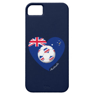 """Australian Soccer Team. Fußball von """"AUSTRALIEN """" iPhone 5 Schutzhülle"""