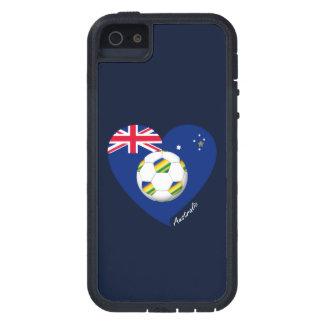 """Australian Soccer Team. Fußball von """"AUSTRALIEN """" iPhone 5 Hülle"""